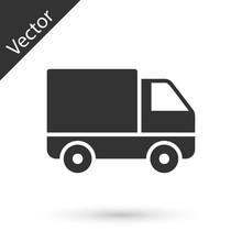 Grey Delivery Cargo Truck Vehi...