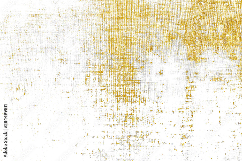 Fototapety, obrazy: Gold brush stroke design element cloth knitted.