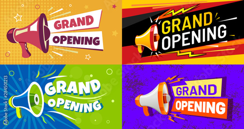 Photo Grand opening banners