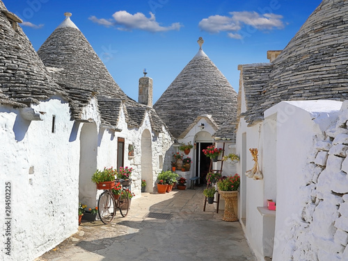 Traditional Apulian Trulli houses. Apulia, Italy Canvas Print