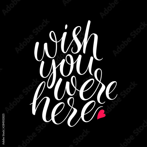 Wish you were here Wallpaper Mural