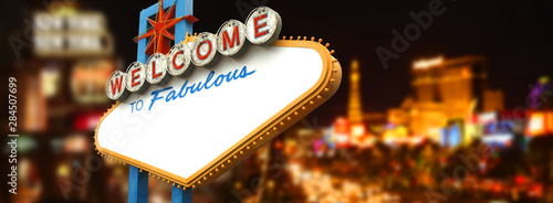 Empty La Vegas sign Wallpaper Mural