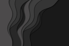 Background With Black Waves. A...