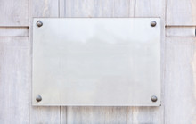 Blank Transparent Sign Plate M...