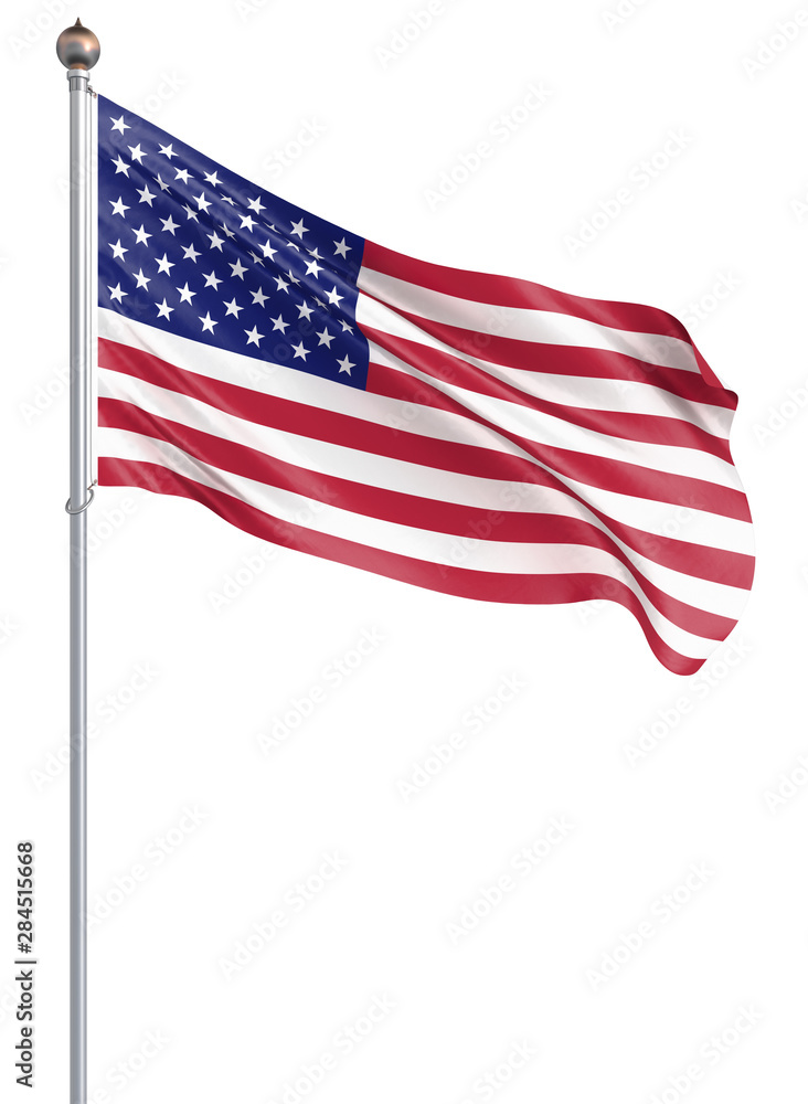 Fototapety, obrazy: Waving USA flag. 3d illustration for your design. - 3d Illustration.