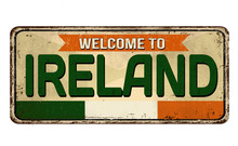 Welcome To Ireland Vintage Rus...