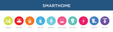 Smarthome Concept 10 Colorful Icons