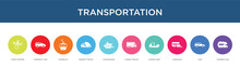 Transportation Concept 10 Colorful Icons