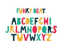 Modern Geometrical Colorful Bulky Uppercase Lettering Alphabet