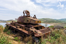 Abandoned Old Rusty Tank On Th...