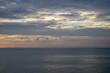 Sunset sea and mountain