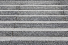 Grey Cobblestone Stairs In The City, Background With Grunge Texture