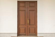 Brown Wooden Doubled-up Door Texture