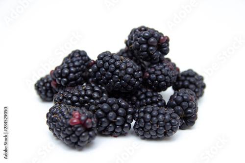 Vászonkép  Boysenberry  isolated on a white background.