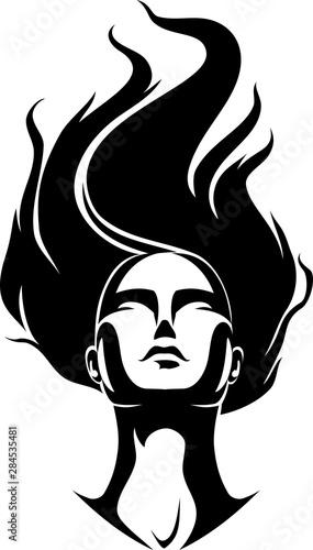 Hairstyle, Zero Gravity Concept Wallpaper Mural