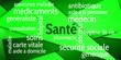 Leinwanddruck Bild - Nuage de Mots Santé v6