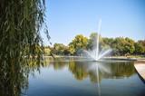 Fototapeta Tęcza - Fountain in the park Budapest Hungary