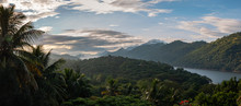 View Of The Mahaweli River Going Between Mountain Ranges In Central Sri Lanka