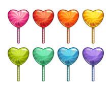 Cartoon Colorful Heart Shaped ...
