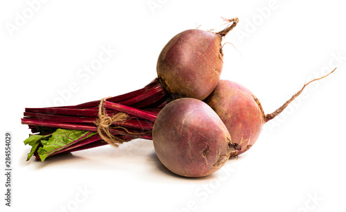 Fotografie, Obraz  Bunch of new beetroots isolated on white