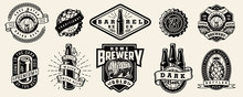 Vintage Brewing Monochrome Emblems