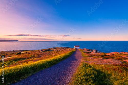 Obraz na płótnie View of Cape Spear Lighthouse National Historic Site at Newfoundland Canada duri