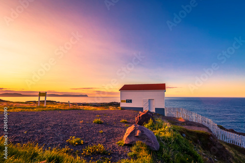 Fotografía  View of Cape Spear Lighthouse National Historic Site at Newfoundland Canada duri