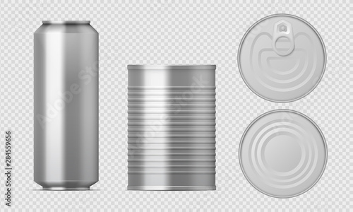 Photo  Metal tin can