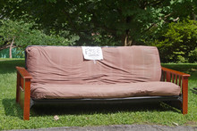 Futon With A Free Sign By The ...