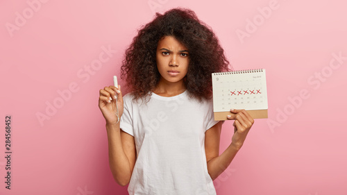 Menstrual cycle and feminine hygiene concept Fototapeta