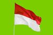 Leinwandbild Motiv Indonesia flag flying in the studio