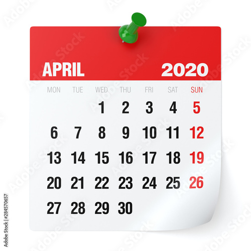 Photo April 2020 - Calendar