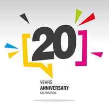20 Years Anniversary Colorful ...