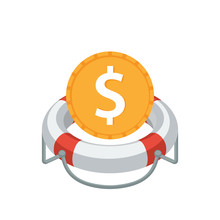 Illustrated Icon With The Concept Of Financial Aid