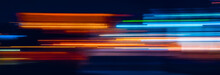 Abstract Rainbow Light Trails ...