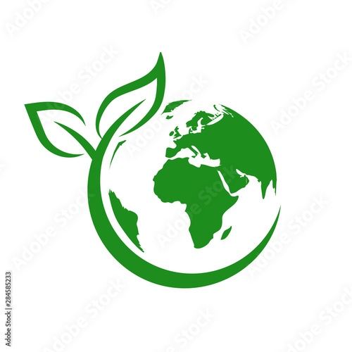 Green earth, World Environment Day, concept of saving the planet – stock vector Fototapet