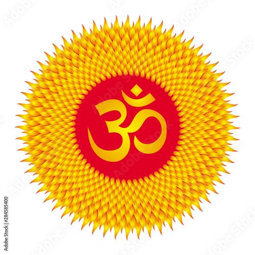 Circle mandala sun Canvas Print