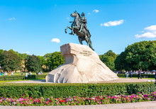 Monument To Peter The Great (First) On Senate Square, St. Petersburg, Russia