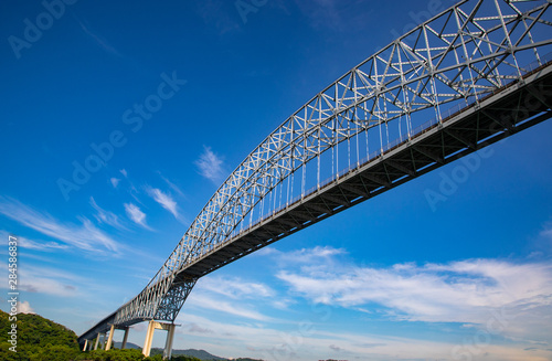 The bridge of the americas is a road bridge which spans the pacific entrance to the panama canal - 284586837