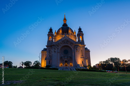 Saint Paul Cathedral at Sunset