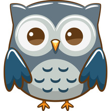 Owl Vector Graphic Clipart Design
