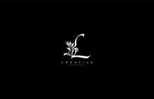Calligraphy L Letter Linked Floral Baroque Ornament Monogram Logo