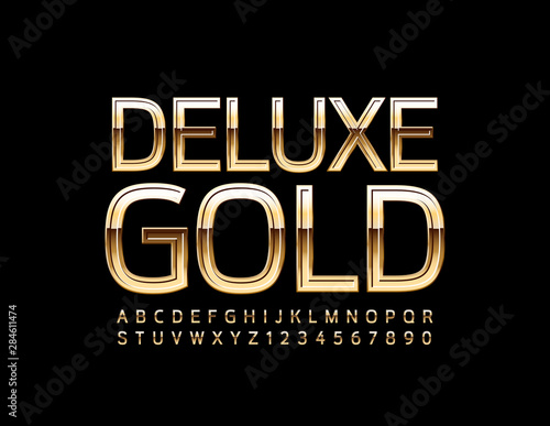 Valokuva  Vector Deluxe Gold Alphabet Letters and Numbers