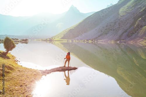 Foto  Fann mountains lake
