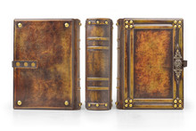 Aged Large Leather Book With C...