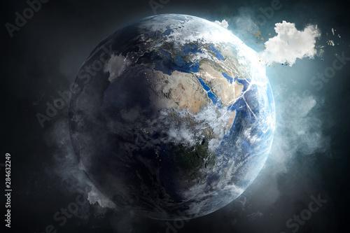 Fotomural  CO2 - Feinstaub - Klimaschutz