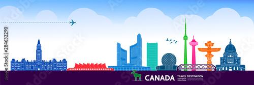 Canada travel destination grand vector illustration.