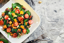 Roasted Pumpkin Salad With Spi...