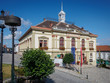 WEITRA/LOWER AUSTRIA - August 2019: City Hall of the historic town Weitra in the Waldviertel in Lower Austria