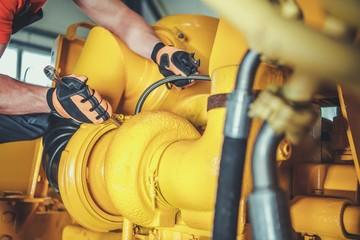 Technician Repair Bulldozer
